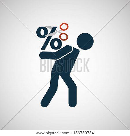 crisis economy finance concept icon design vector illustration eps 10