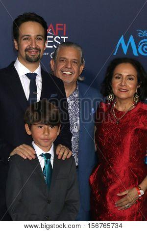 LOS ANGELES - NOV 14:  Lin-Manuel Miranda, guests at the