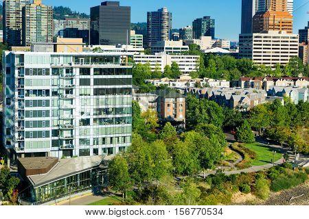 Beautiful view of  city in Portland Oregon