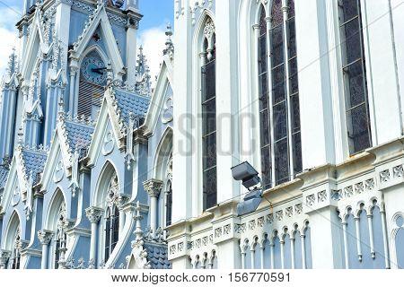 Details of La Ermita church in Cali Colombia