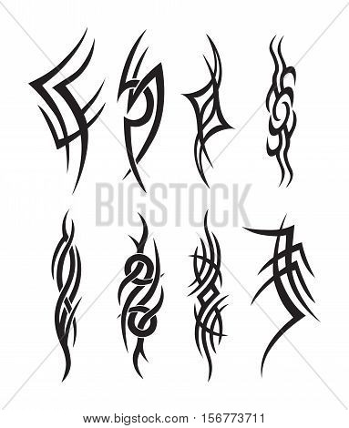 Symbolic Tattoo Tribal Silhouette Vector - collection