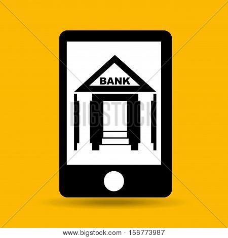 concept saving money bank building vector illustration eps 10