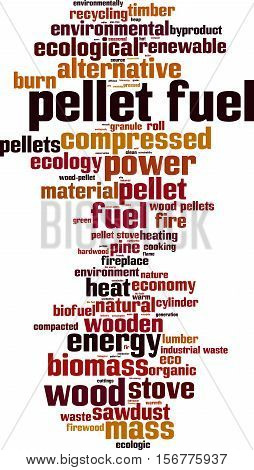 Pellet fuel word cloud concept. Vector illustration