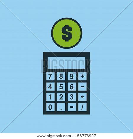 hand putting calculator finance money vector illustration eps 10