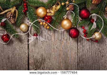 Christmas Decoration and New Year Theme Background