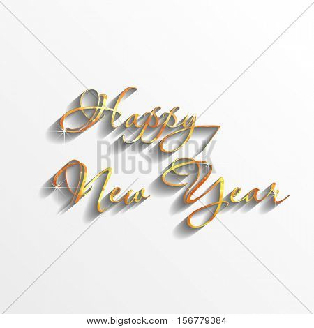 happy new year gold text easy all editable