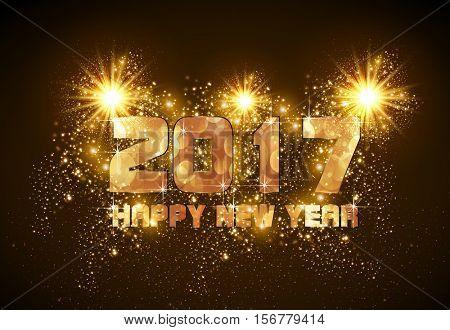 Happy New Year easy all editable