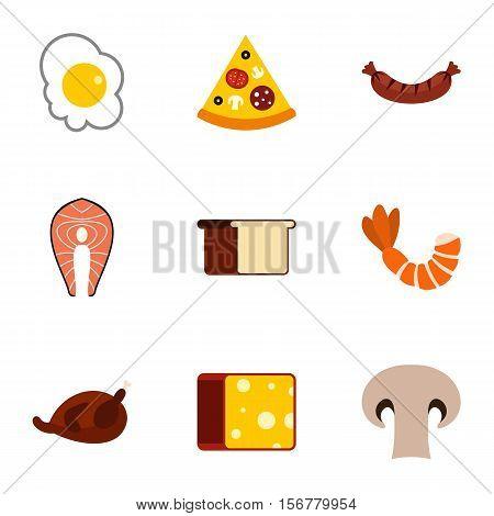 Morning breakfast icons set. Flat illustration of 9 morning breakfast vector icons for web