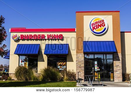 Kokomo - Circa November 2016: Burger King Retail Fast Food Location. Every day more than 11 million guests visit Burger King II
