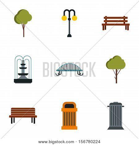 Garden icons set. Flat illustration of 9 garden vector icons for web