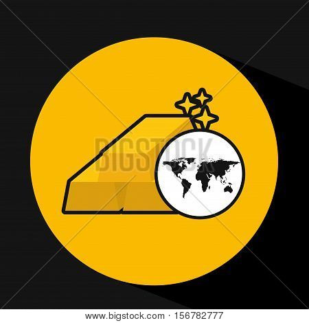 map world business bar golden design vector illustration eps 10