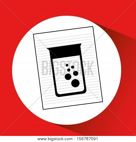 research chemical laboratory container icon vector illustration eps 10