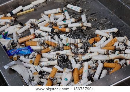 Cigarette On The Ashtray