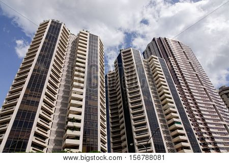 Buildings Located At Downtown In Manila, Philippines