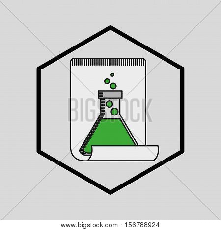silhouette  with beaker laboratory vector illusration eps 10