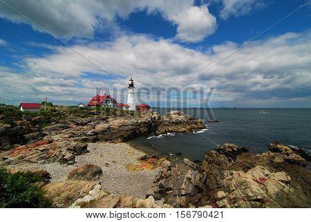 The Portland Headlight Lighthouse in Portland, Maine