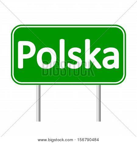 Polska road sign isolated on white background.Palau road sign isolated on white background.