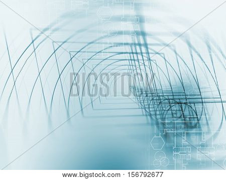 Digital Golden Ratio On Abstract Technology Background