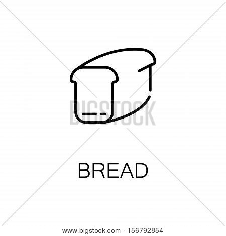 Bread flat icon. Single high quality outline symbol of bakery for web design or mobile app. Thin line signs of bread for design logo, visit card, etc. Outline pictogram of bread