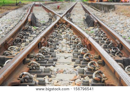 railway line track classic Select focus with shallow depth of field