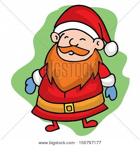 Santa smilling Christmas character stock vector art