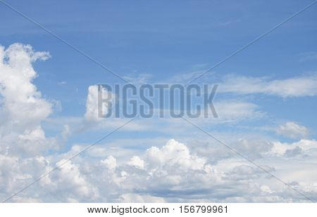 blue sky vivid and big cloud beautiful Colorful in nature background