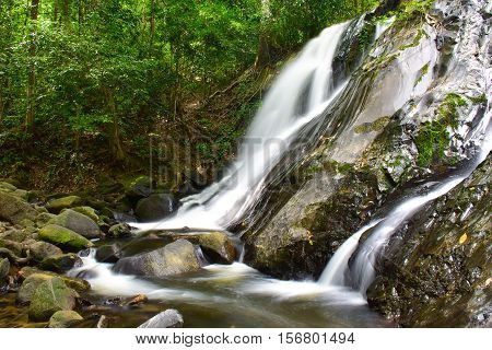 Ton Nga Chang waterfalls, National park in Hat Yai district, Songkhla province, Thailand
