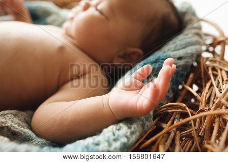 Newborn Adorable Hand Innocence Cute Sweet Tiny Baby Concept