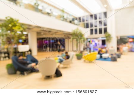 People In Department Store Or Shopping Mall