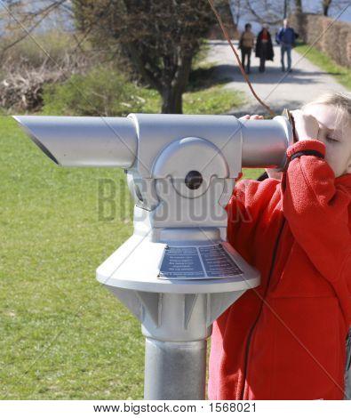 Girl With Telescope1