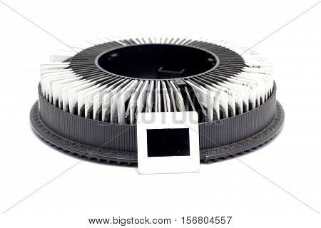 Slide Rack Film On White