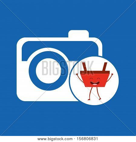 basket red commerce photographic camera icon vector illustration eps 10