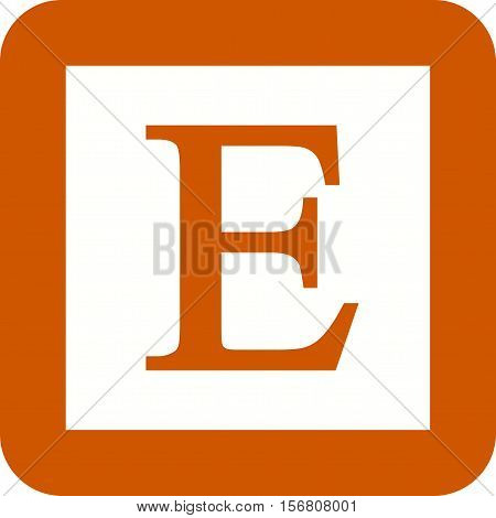 Etsy, mobile, web icon vector image. Can also be used for software development. Suitable for mobile apps, web apps and print media.