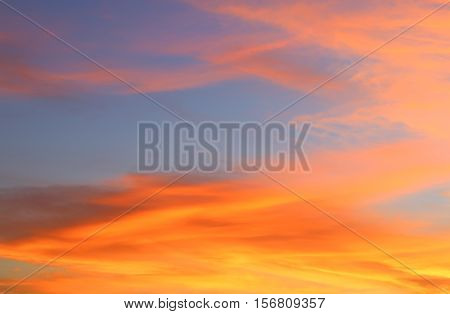 sky in sunset and motion cloud beautiful colorful evening nature space for add text