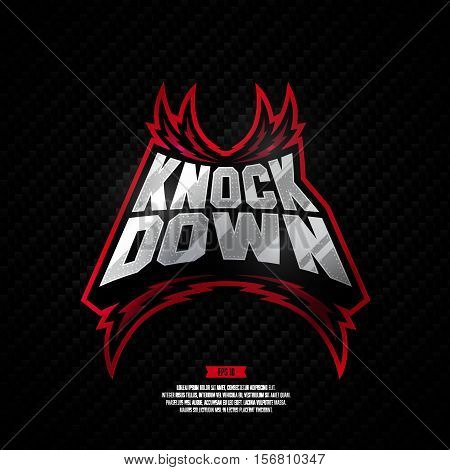 Knock Down Logo Design.