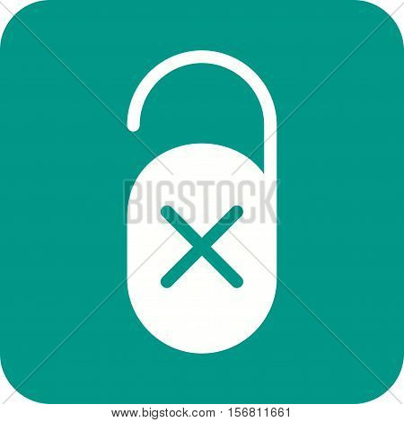 Disturb, sign, hotel icon vector image. Can also be used for travel. Suitable for use on web apps, mobile apps and print media.