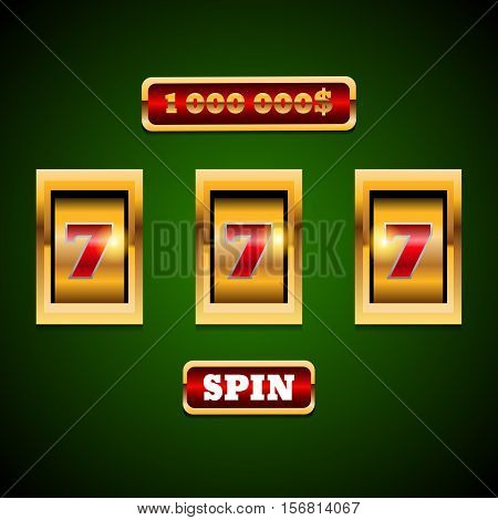 Gold Slot Machine Background Eps 10 Vector.