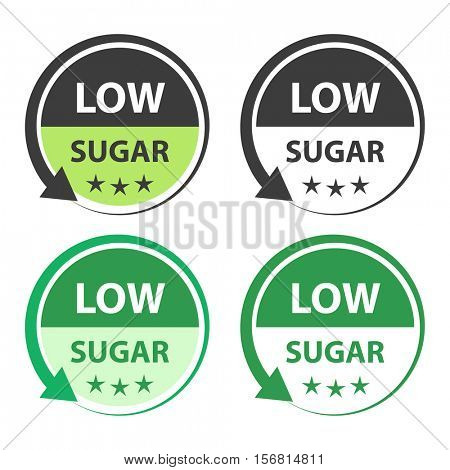Low sugar food labels.