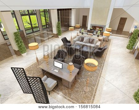 Top View Of The Lounge Area.
