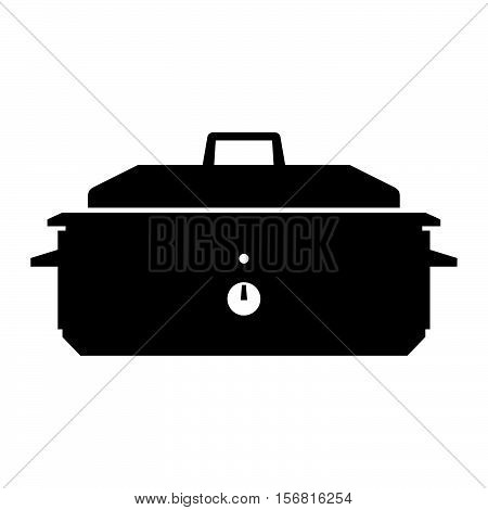 Roaster oven ( shade picture ) on white
