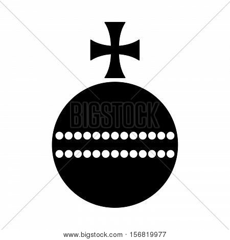 Globus cruciger ( shade picture ) on white