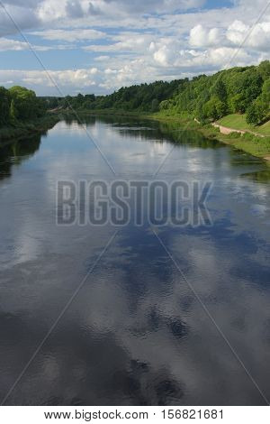 Landscape with Wast Dvina river in the center of Vitebsk