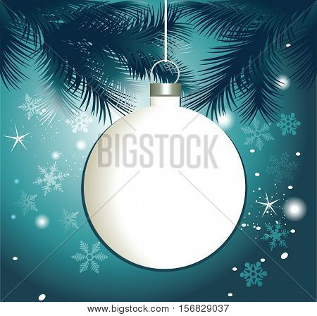 Christmas frame with Christmas ball - vector illustration
