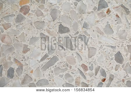Terrazzo floor Marble surface stone wall texture pattern and color for background