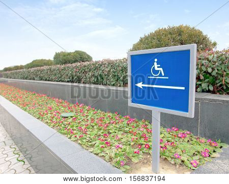 Modern city building Wheelchair access, barrier-free access.