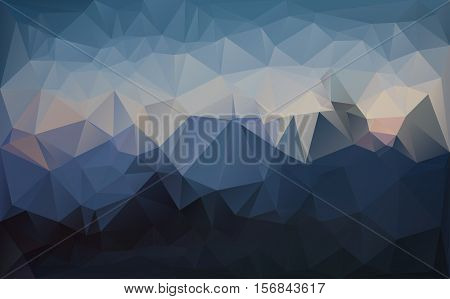 Low polygonal style triangulated vector graphic background.