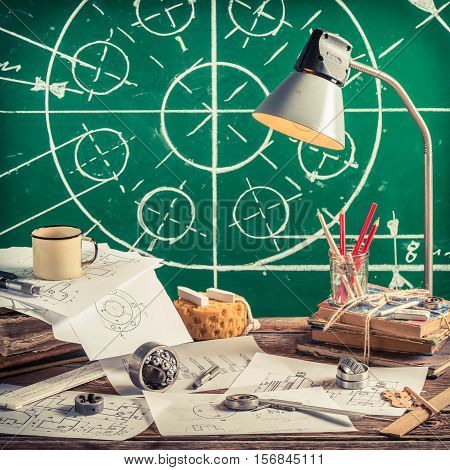 Mechanical Workshop At School As Education Concept
