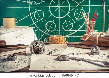 Laboratory Design Of Mechanical Parts As Education Concept