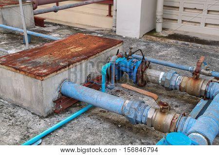 water valve plumbing joint steel rust industrial old tap pipe