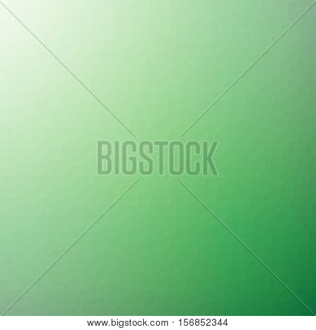 Low Poly Pattern Design. Small Cells. Vector Polygonal Background Filled With Dark Green To Light Gr